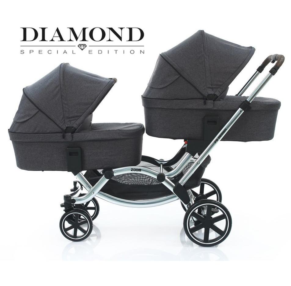 Коляска для двойни и погодок FD-Design Zoom Diamond Special Edition